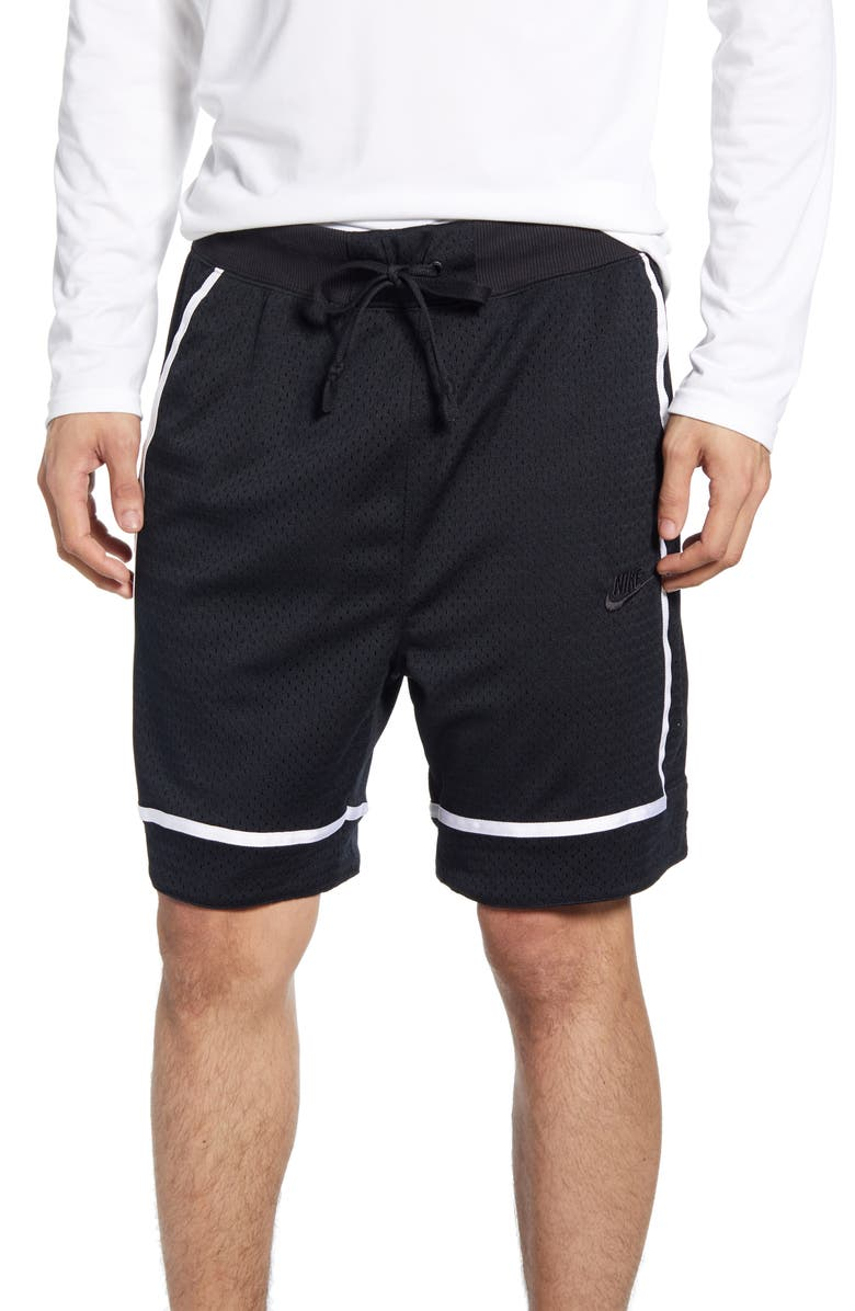 NIKE Sportswear Mesh Athletic Shorts, Main, color, BLACK/ BLACK/ WHITE/ BLACK