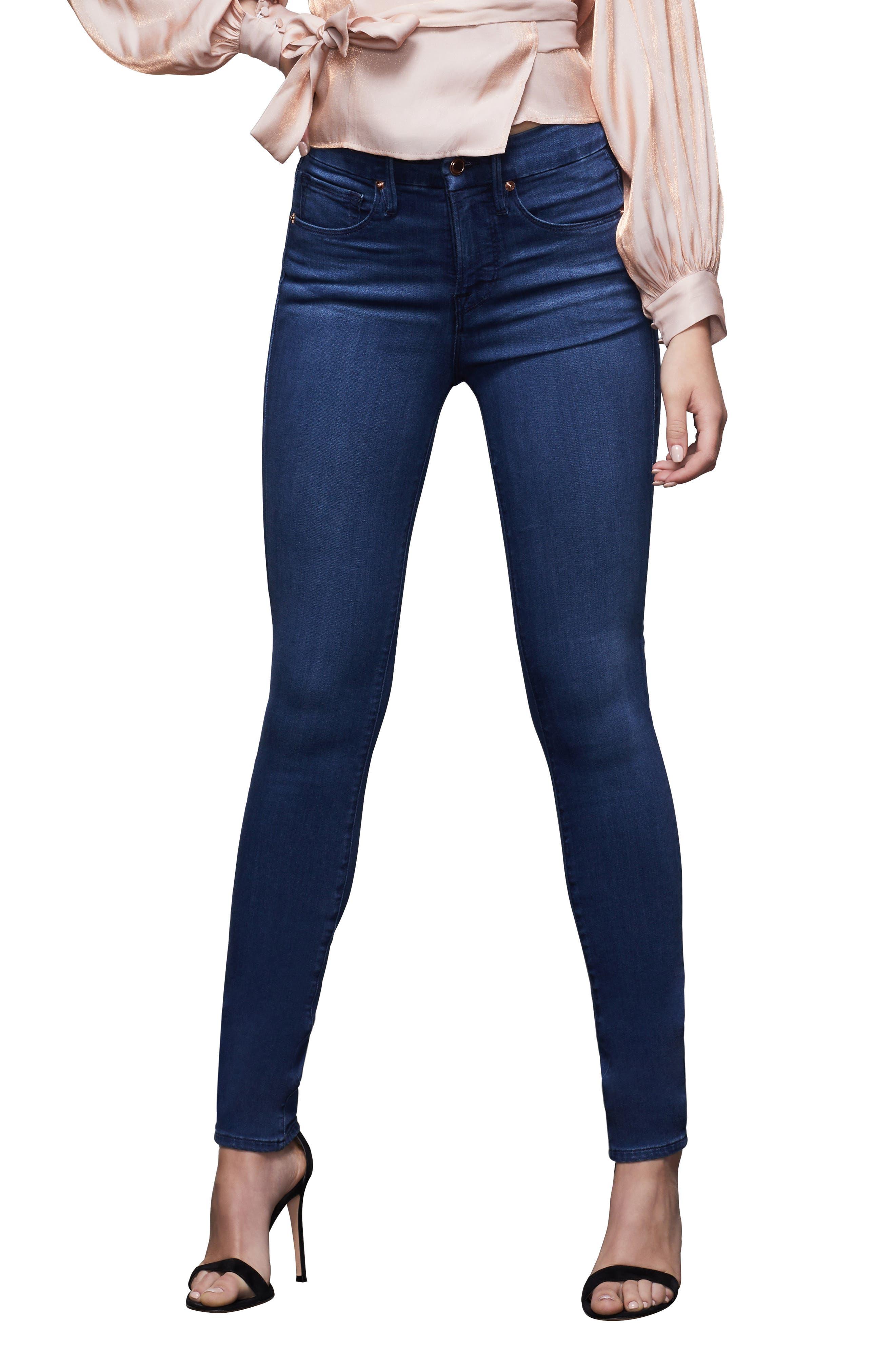 Women's Good American Good Legs High Waist Ankle Skinny Jeans