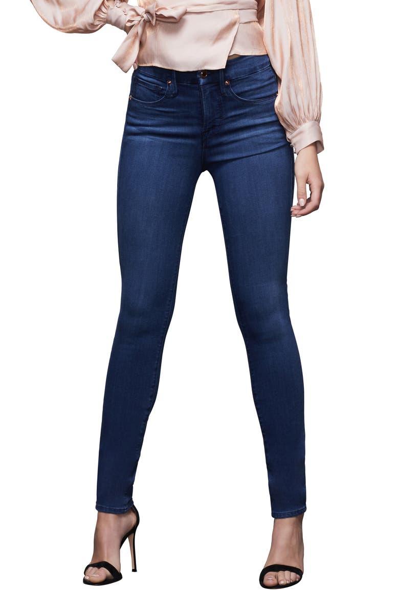 GOOD AMERICAN Good Legs High Waist Skinny Jeans, Main, color, BLUE370