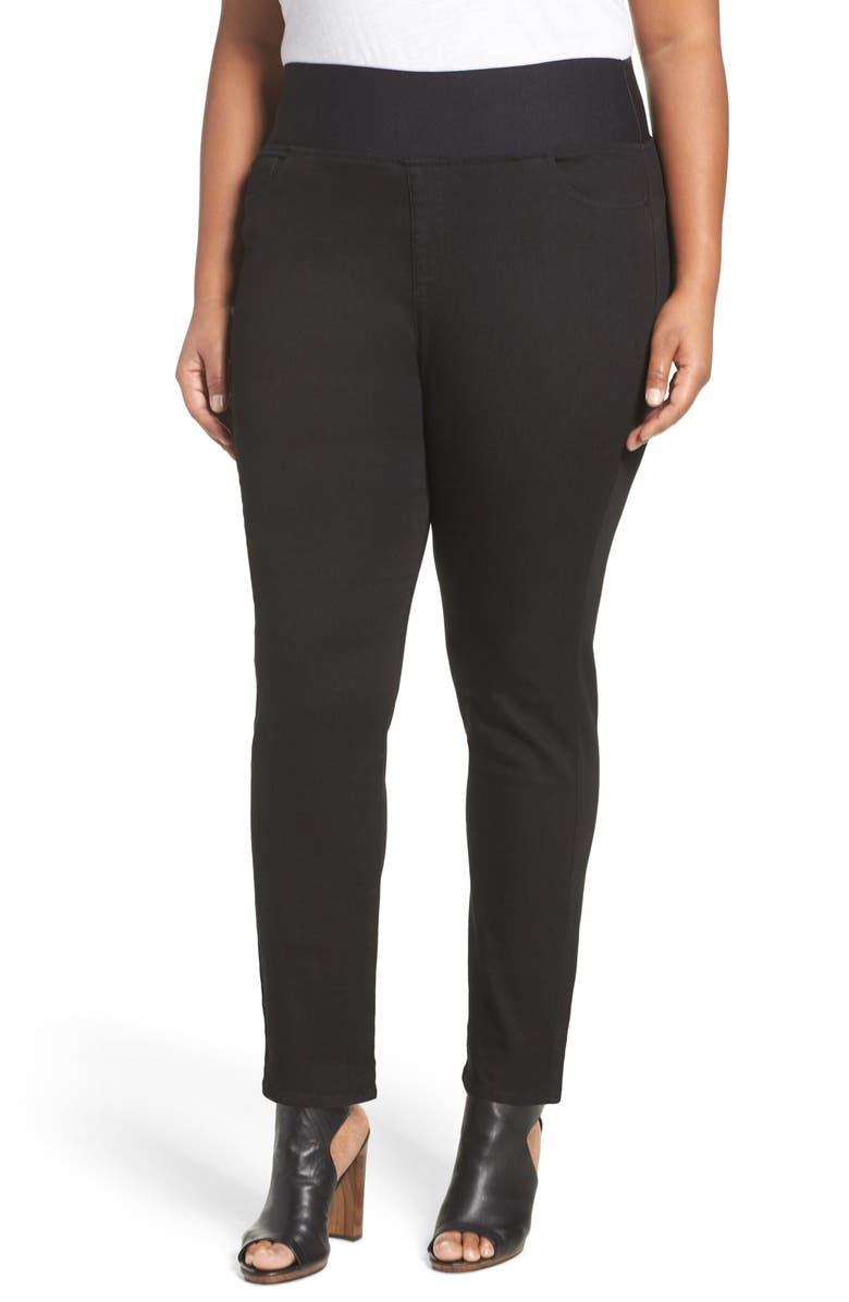 FOXCROFT Slimming High Rise Pull-On Pants, Main, color, BLACK