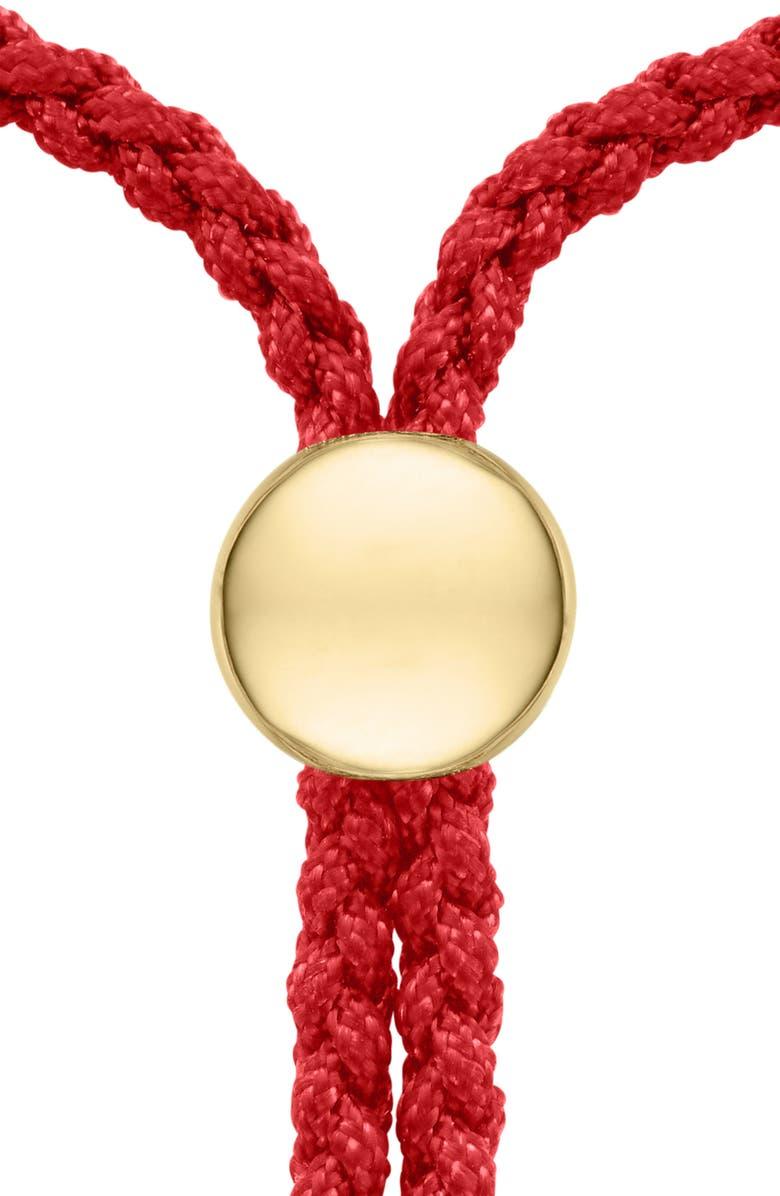 MONICA VINADER Petite Fiji Friendship Bracelet, Main, color, YELLOW GOLD/ CORAL