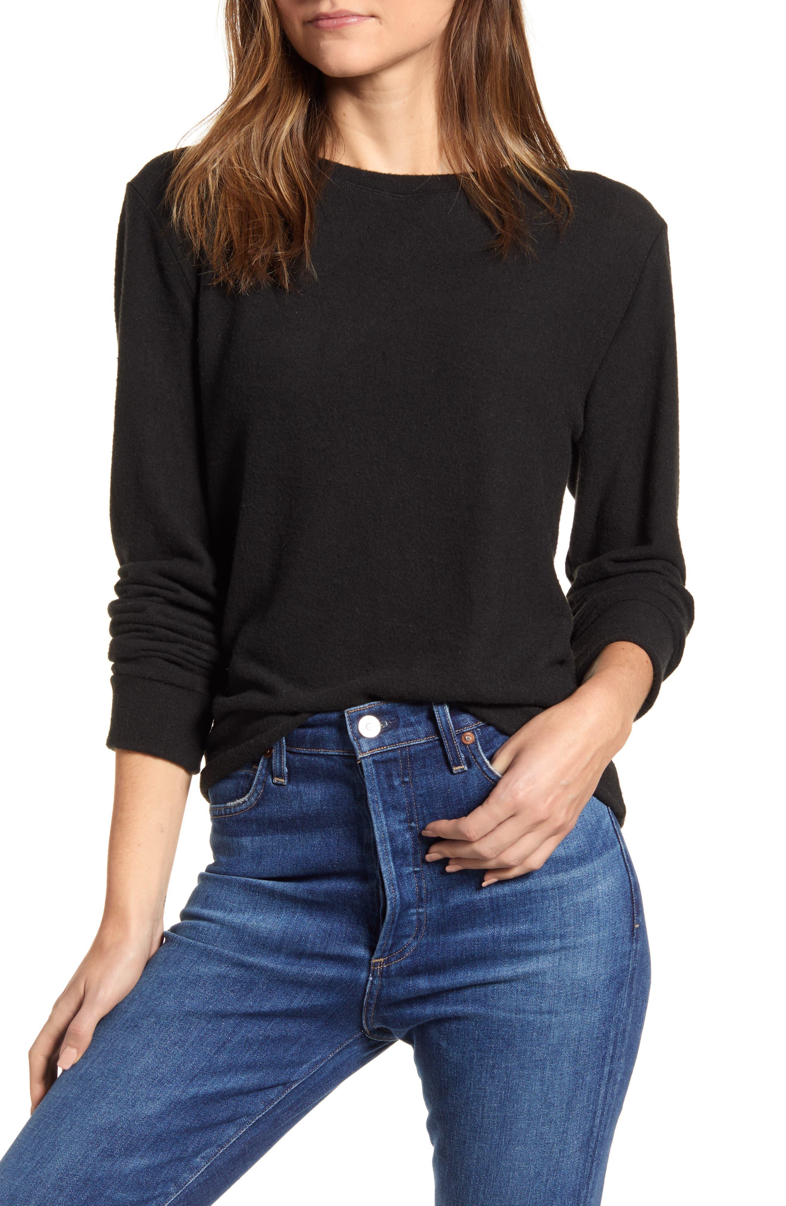 Women's Loveapella Cozy Crewneck Long Sleeve Top