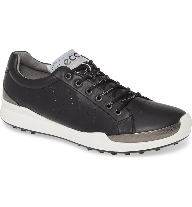 ECCO 'Biom Hybrid' Golf Shoe, Main, color, BLACK LEATHER