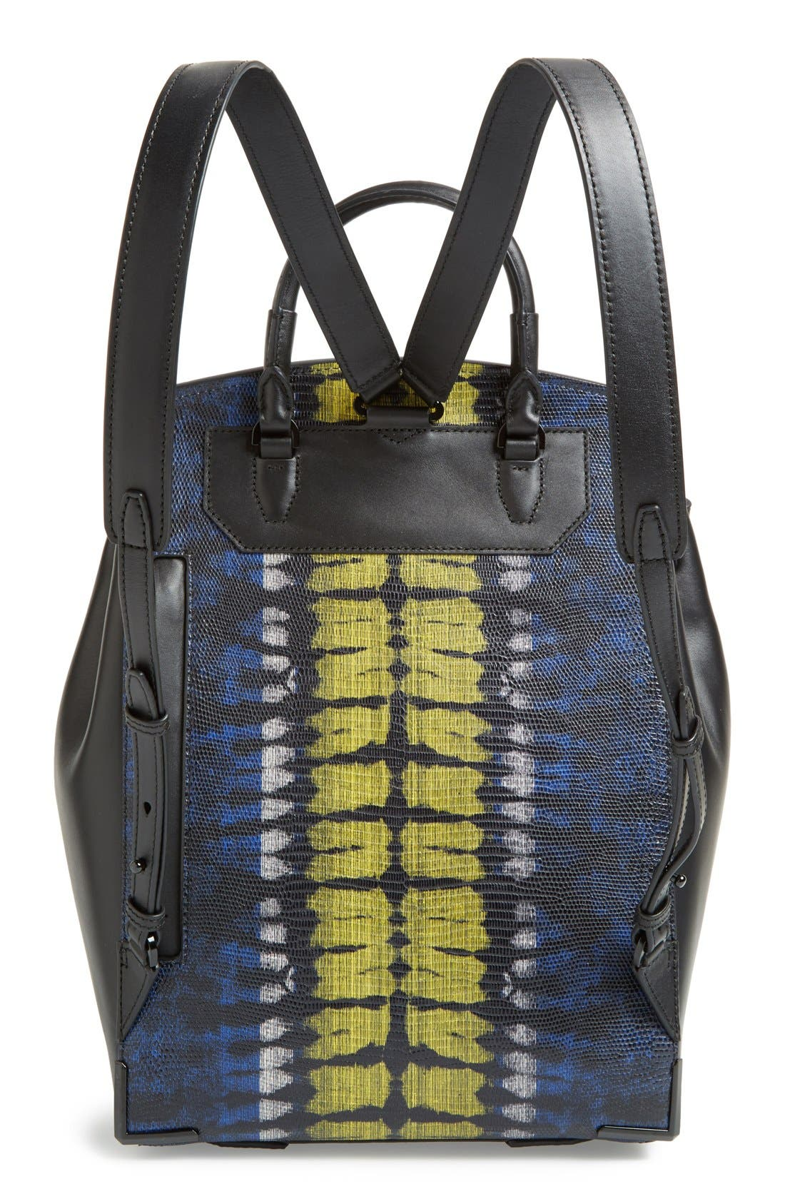 ,                             'Prisma' Lizard Embossed Backpack,                             Alternate thumbnail 4, color,                             700