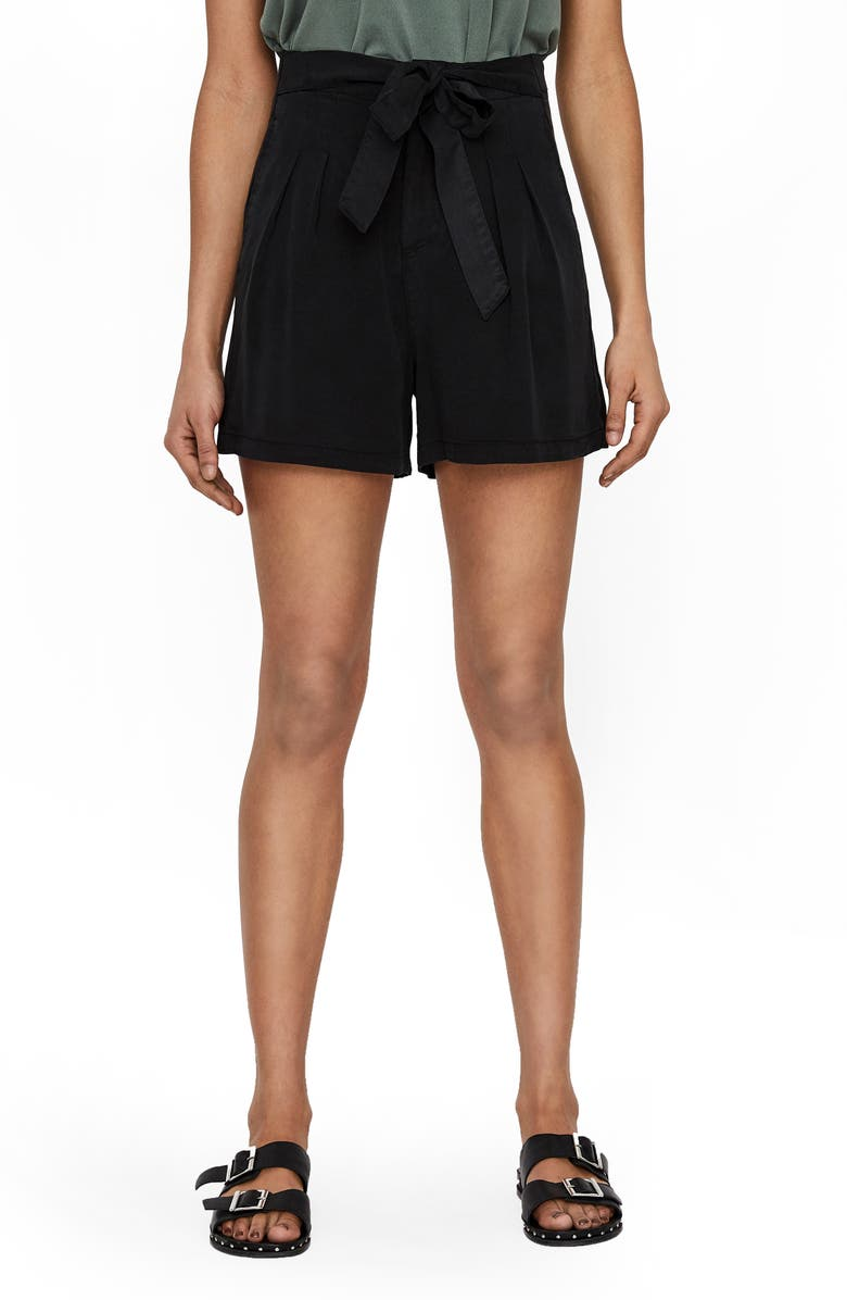 VERO MODA Mia Loose Shorts, Main, color, BLACK