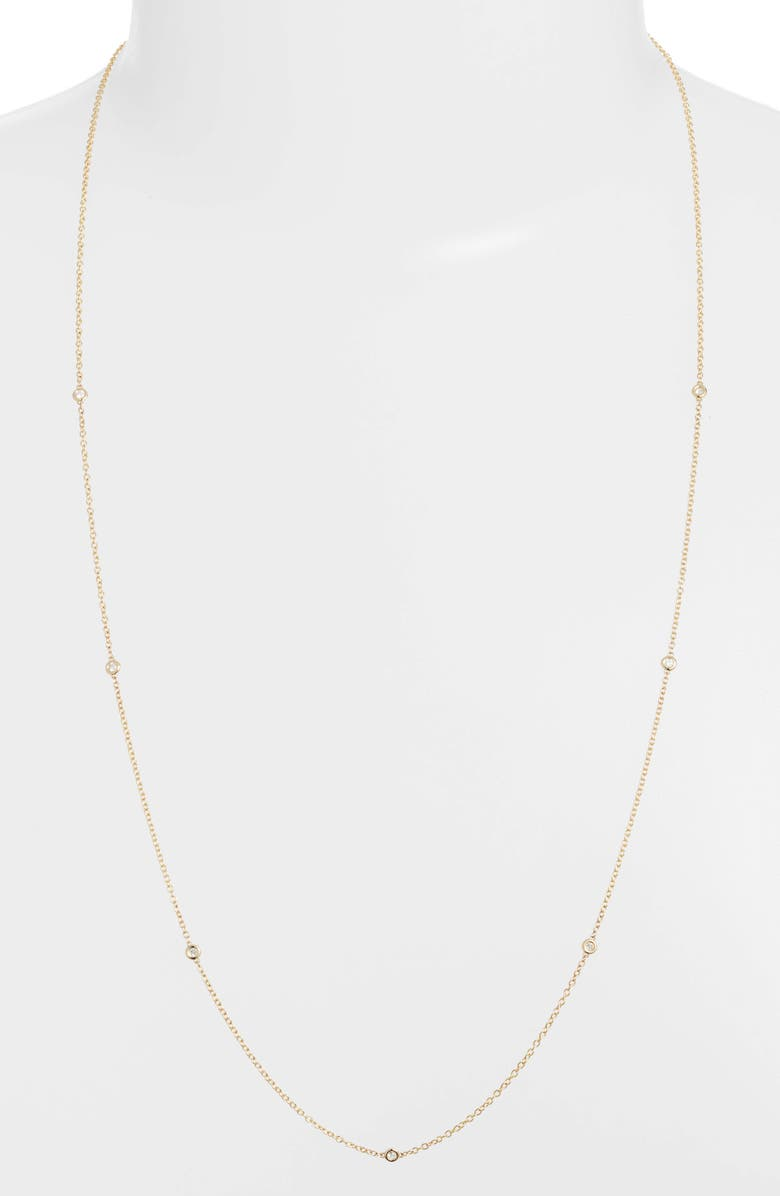 Zo Chicco Floating Diamond Long Station Necklace