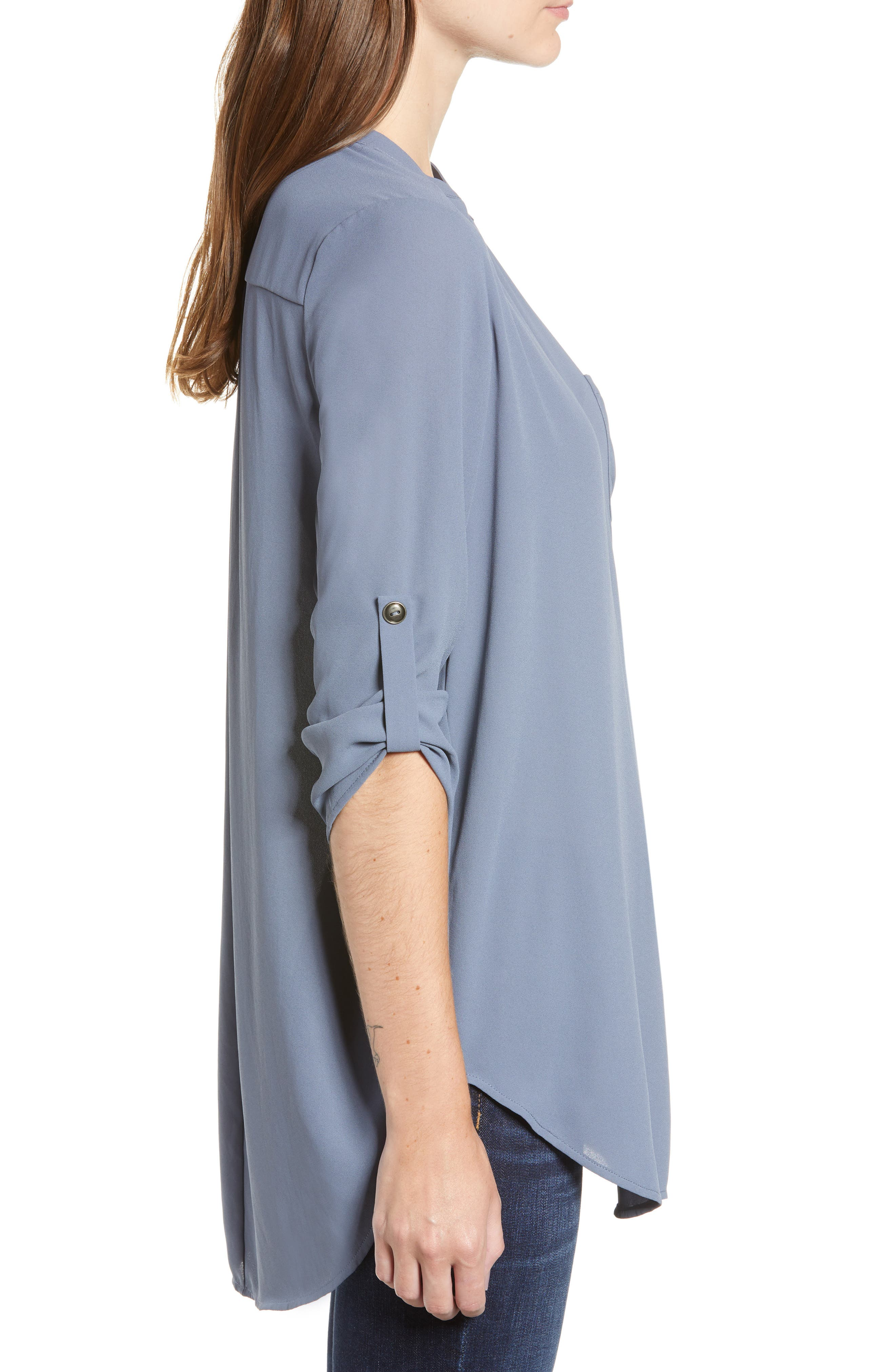 ,                             Perfect Roll Tab Sleeve Tunic,                             Alternate thumbnail 106, color,                             439