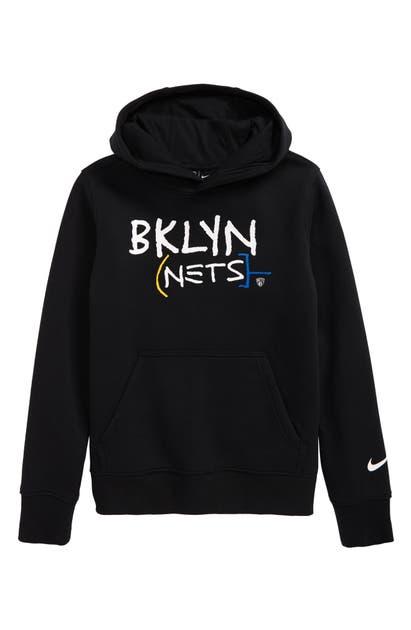 Nike KIDS' NBA BROOKLYN NETS CITY EDITION HOODIE