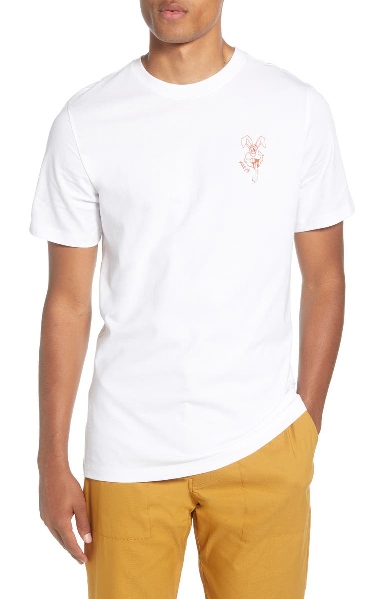 NIKE SB Rabbit Graphic T-Shirt, Main, color, WHITE