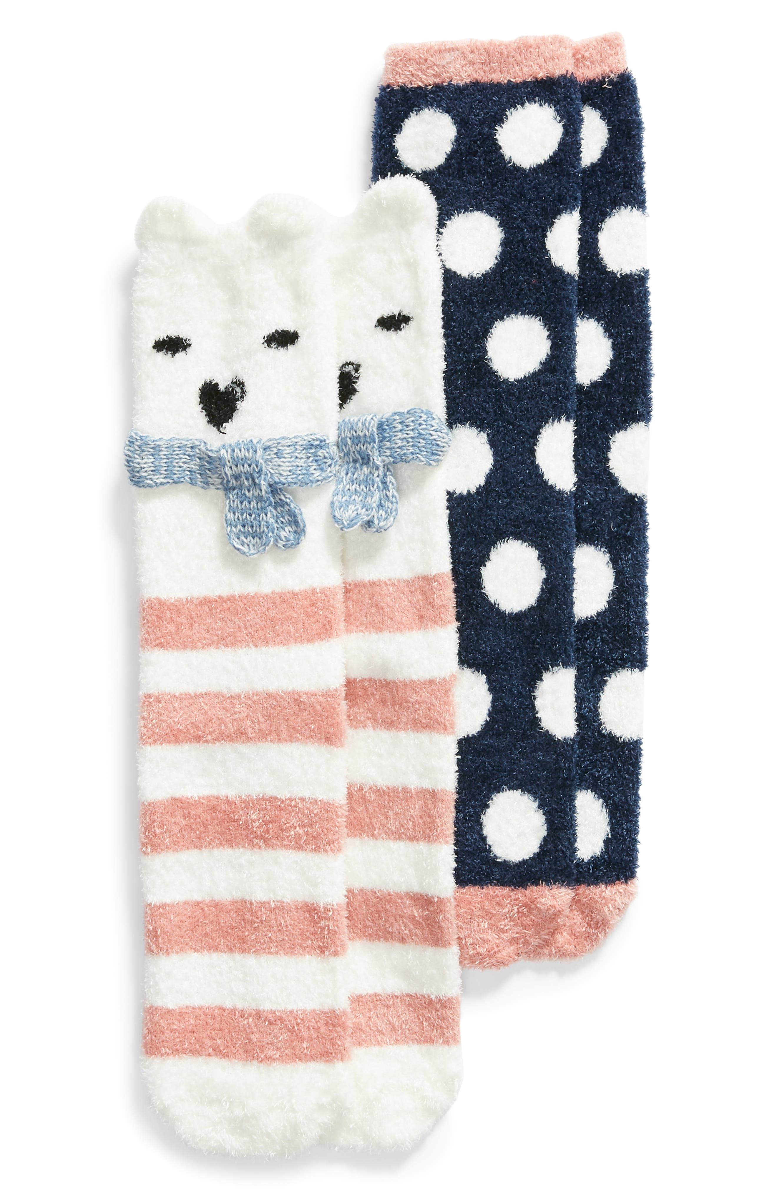 BP. 2-Pack Holiday Butter Crew Socks