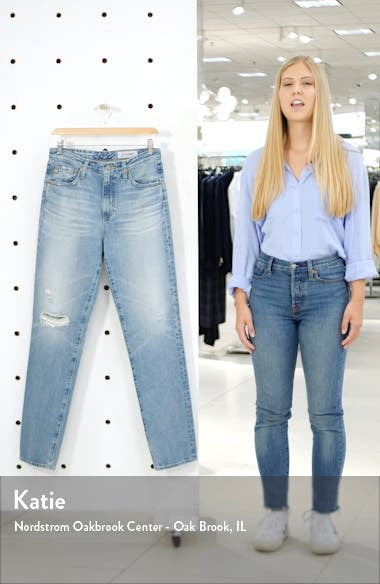 The Phoebe Extended High Rise Slim Straight Leg Jeans, sales video thumbnail