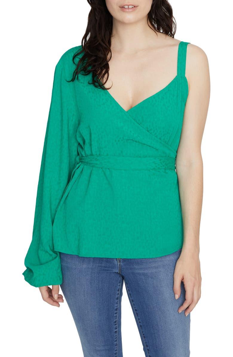 SANCTUARY Dani One-Sleeve Wrap Top, Main, color, 320