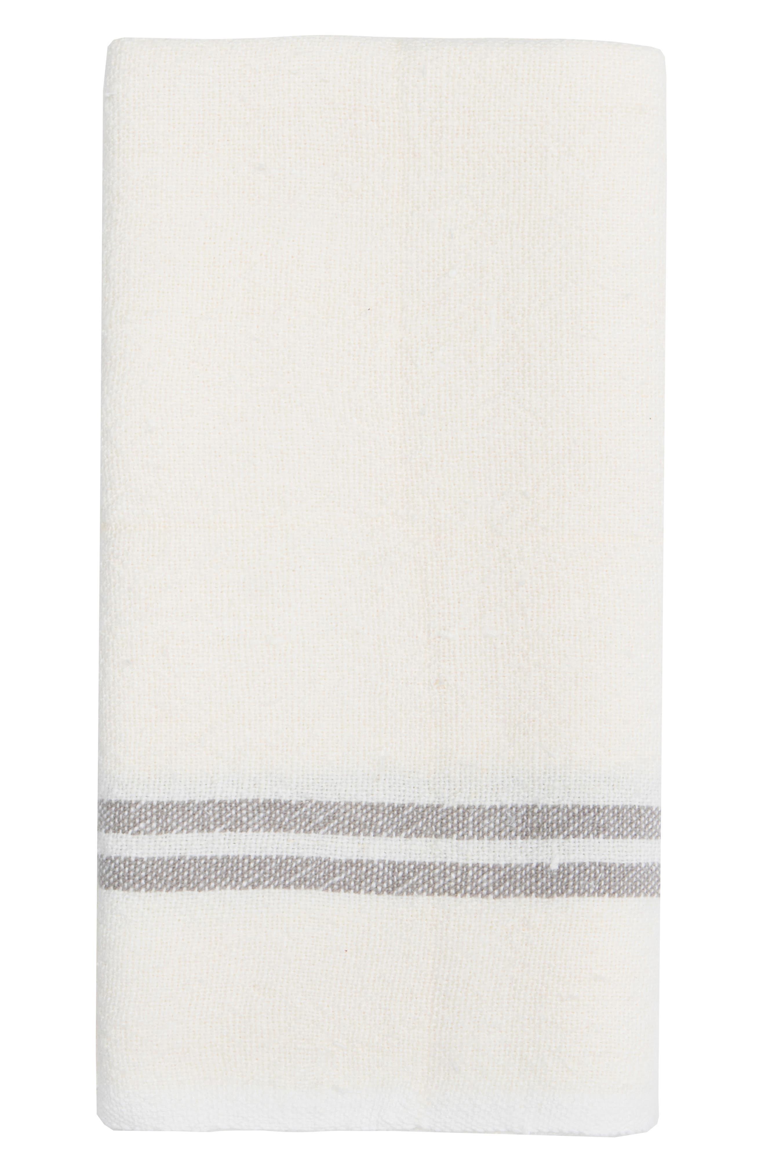 Caravan Set Of 2 Vintage Linen Tea Towels Size One Size  White