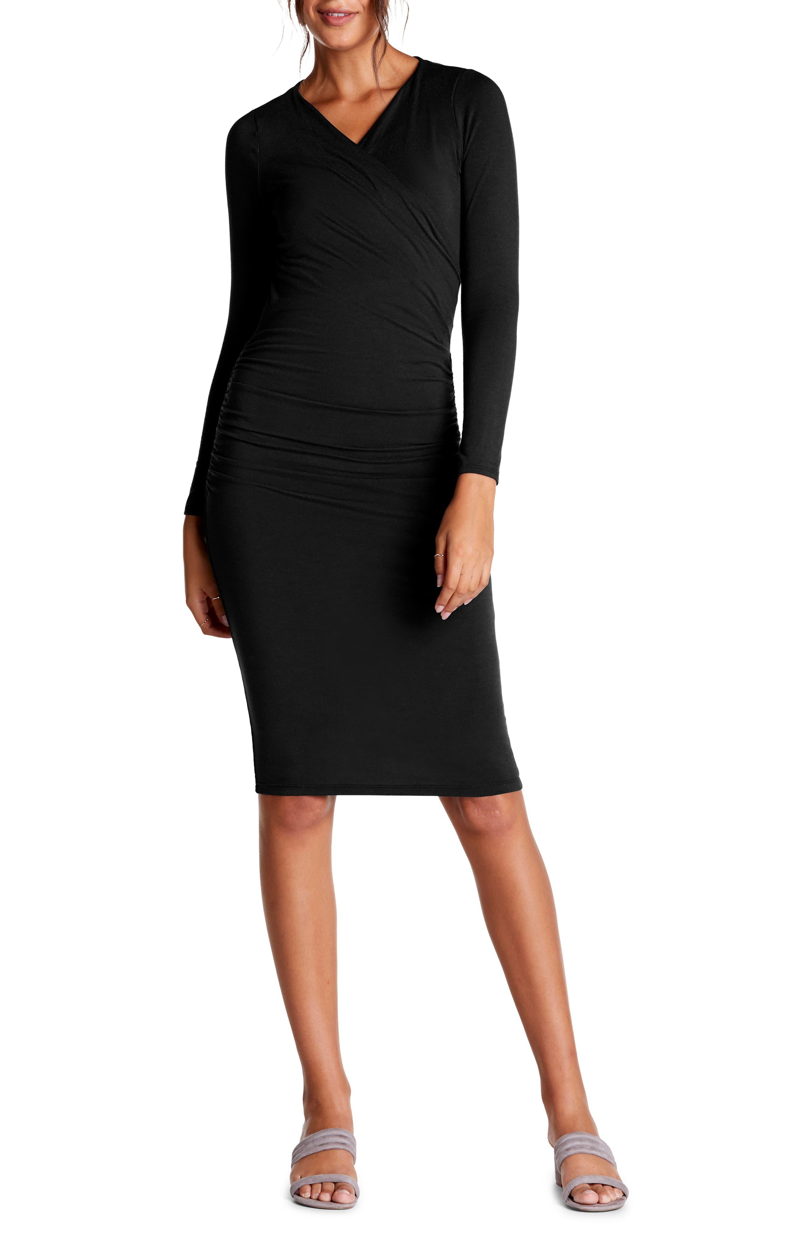 Michael Stars Mikaela Crossover Knit Dress, Black