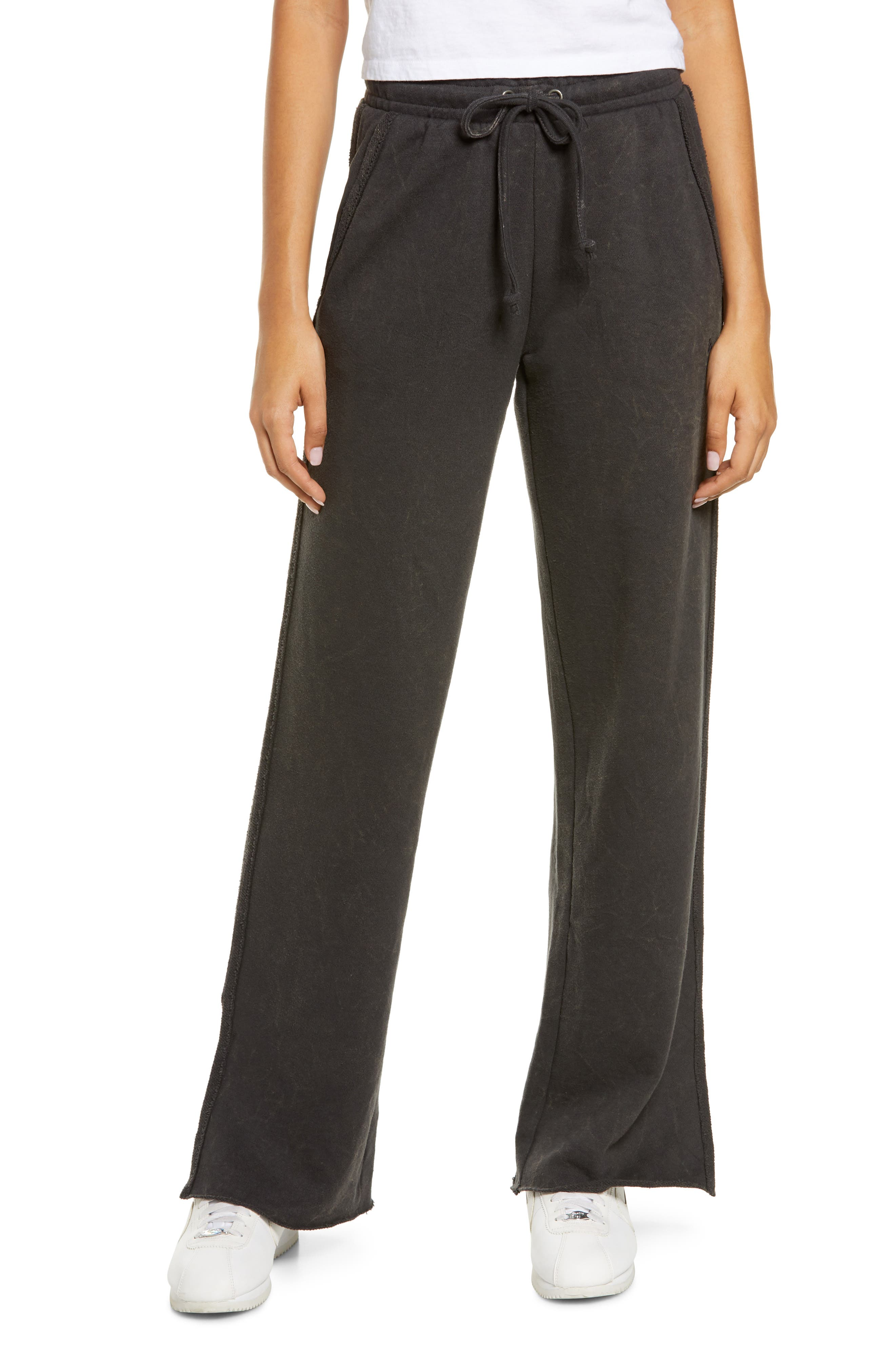 Women's Loopside Slit Hem French Terry Lounge Pants