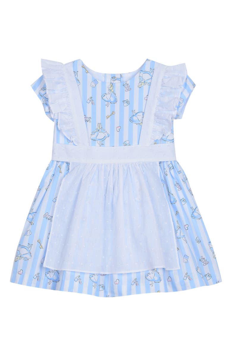 PIPPA & JULIE x Disney Alice Pinafore Dress, Main, color, BLUE/ WHITE
