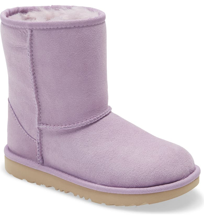 UGG<SUP>®</SUP> Classic Short II Water Resistant Genuine Shearling Boot, Main, color, LILAC FROST