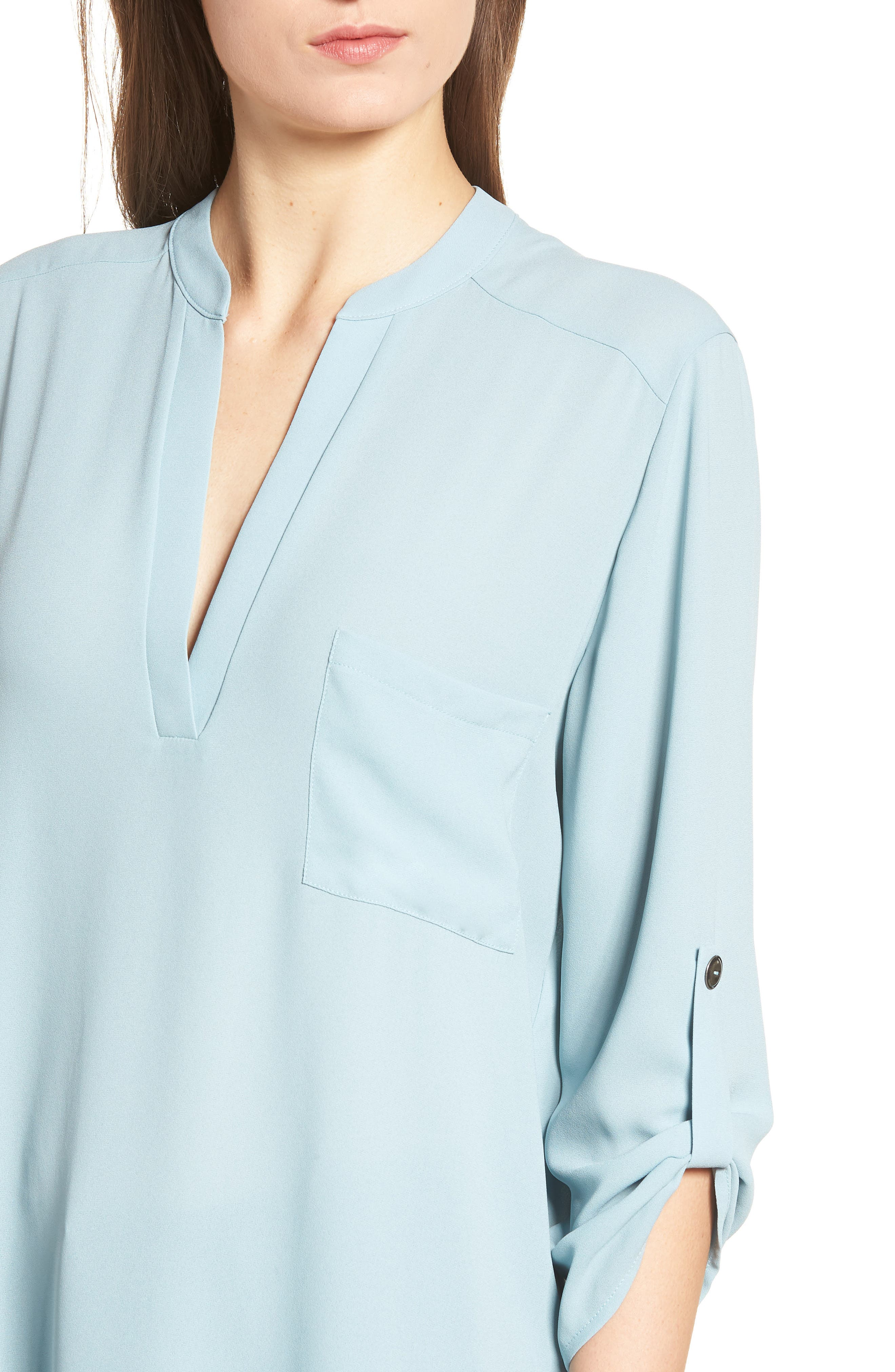 ,                             Perfect Roll Tab Sleeve Tunic,                             Alternate thumbnail 72, color,                             358