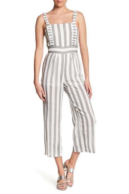 Image of Know One Cares Ruffle Apron Jumpsuit