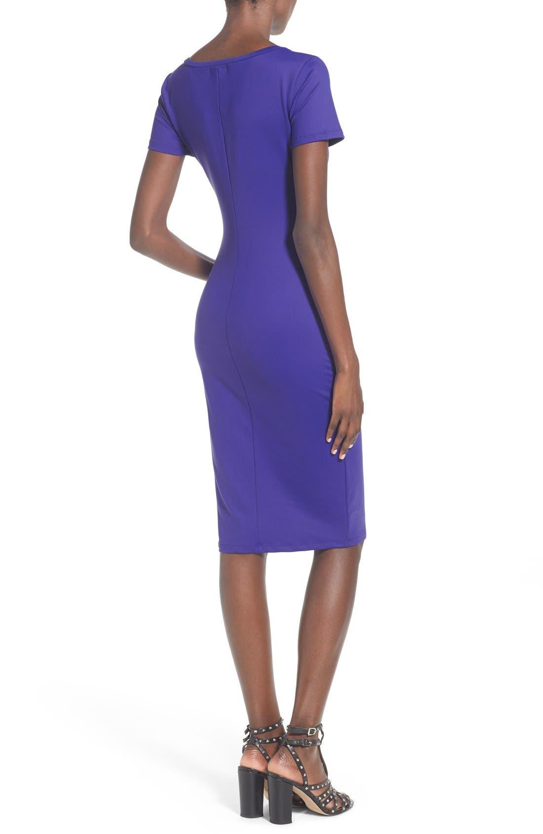 ,                             V-Neck Body-Con Dress,                             Alternate thumbnail 7, color,                             302