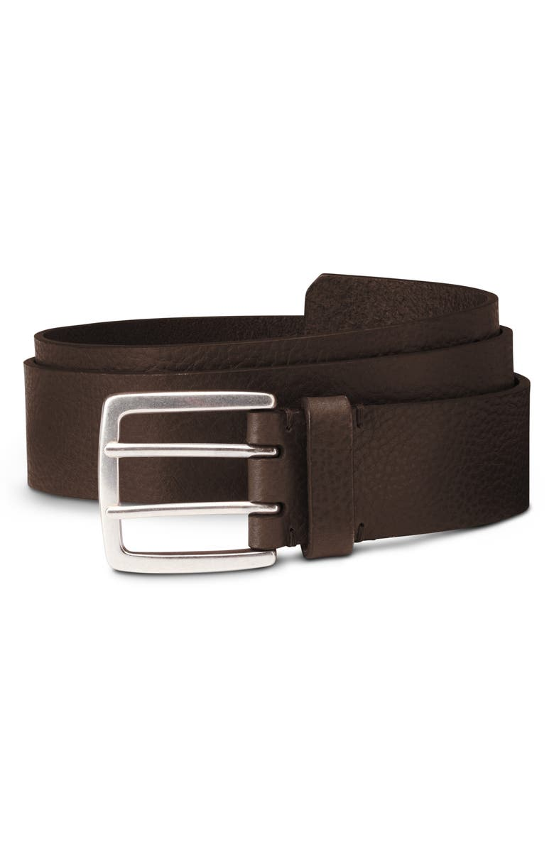 ALLEN EDMONDS Ranger Street Leather Belt, Main, color, BROWN