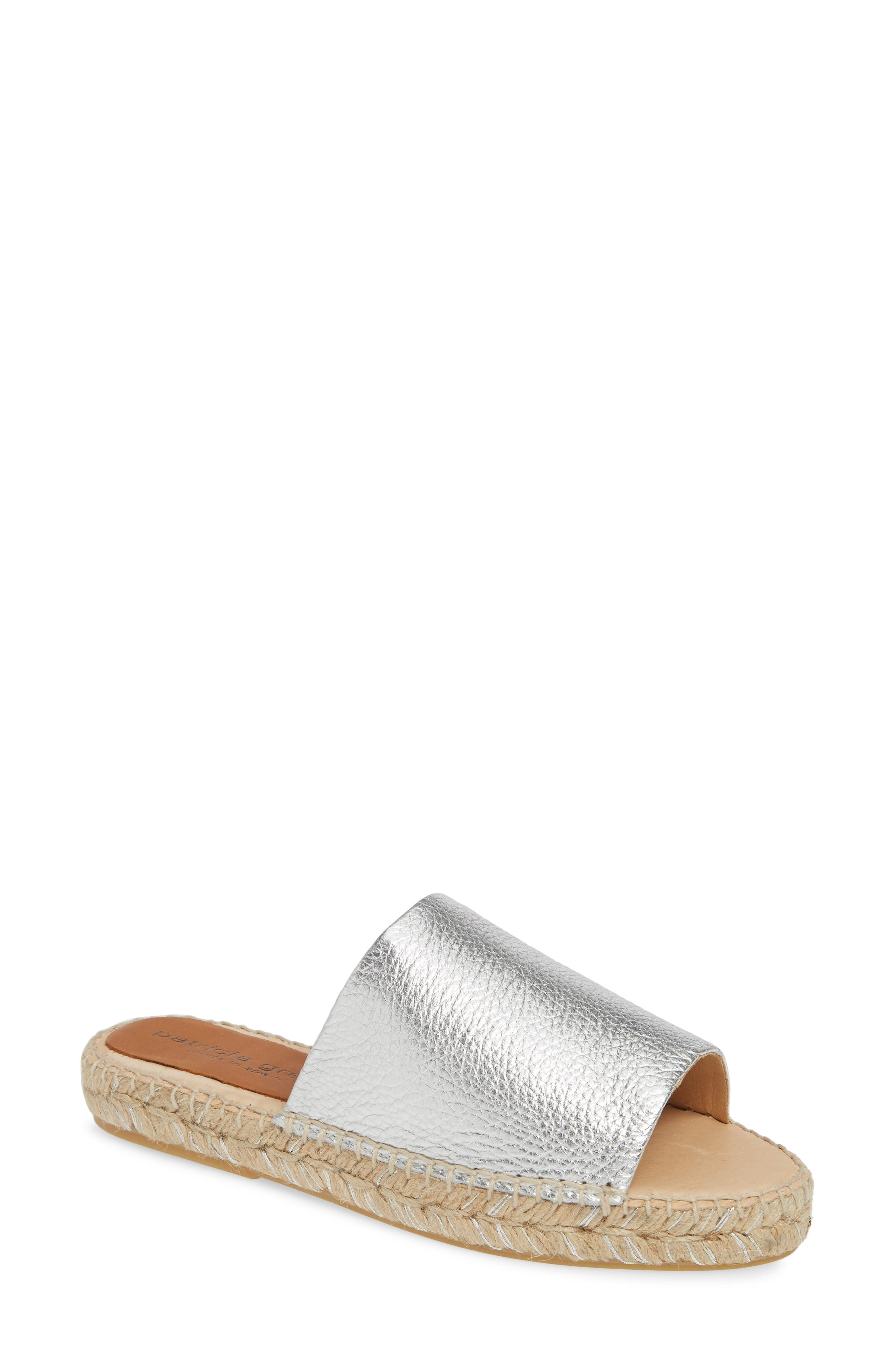 Patricia Green Portland Espadrille Slide Sandal, Metallic