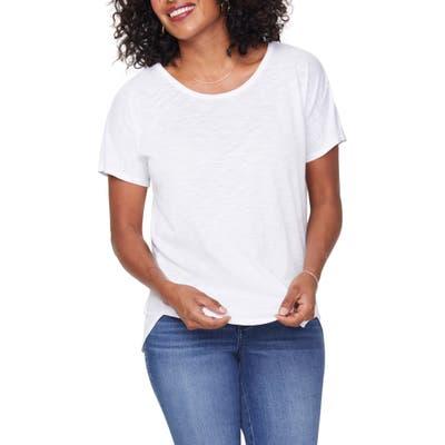 Nydj Everyday Short Sleeve Cotton T-Shirt, White
