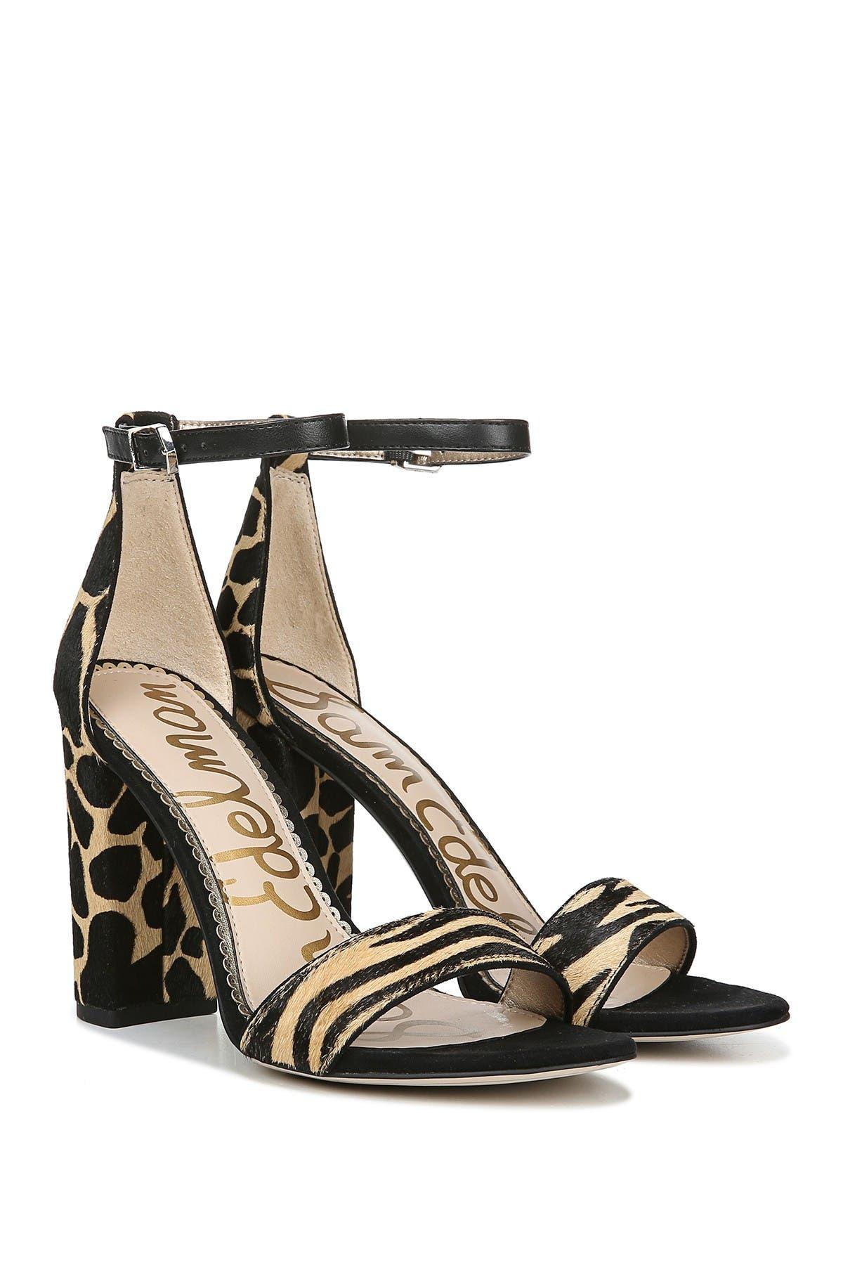 Yaro Animal Print Block Heel Sandal