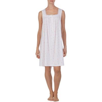 Eileen West Square Neck Sleeveless Nightgown, White