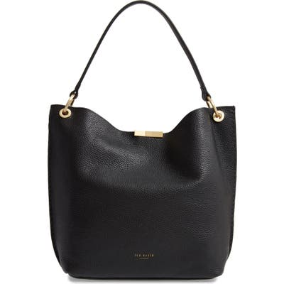 Ted Baker London Candiee Bow Leather Hobo - Black