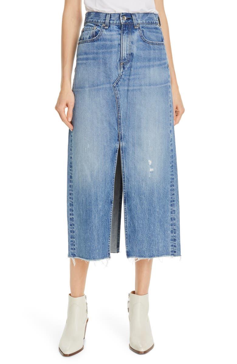 RAG & BONE Clyde Denim Skirt, Main, color, 425