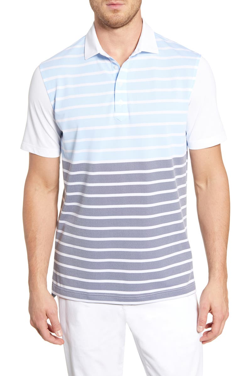 JOHNNIE-O Hinkley Classic Fit Stripe Prep-Formance Polo, Main, color, 462