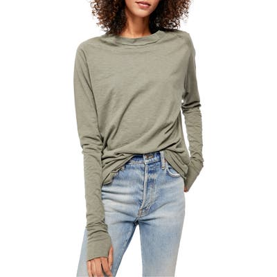 Free People Arden Extra Long Cotton Top, Green