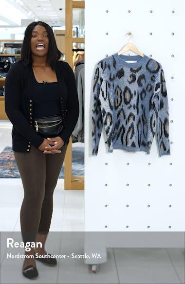 Leopard Jacquard Sweater, sales video thumbnail