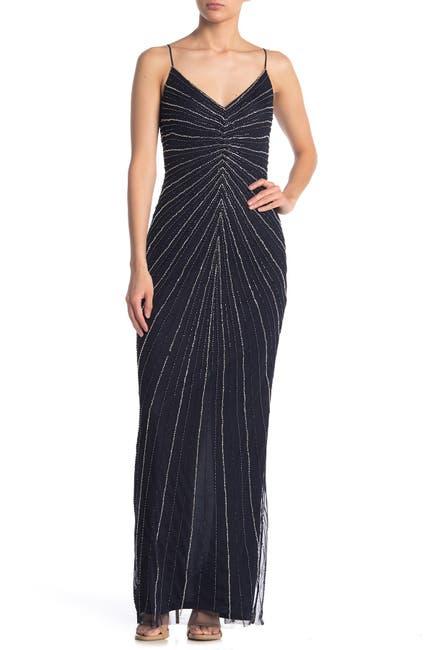 Image of Marina Illusion Sleeveless Long Dress