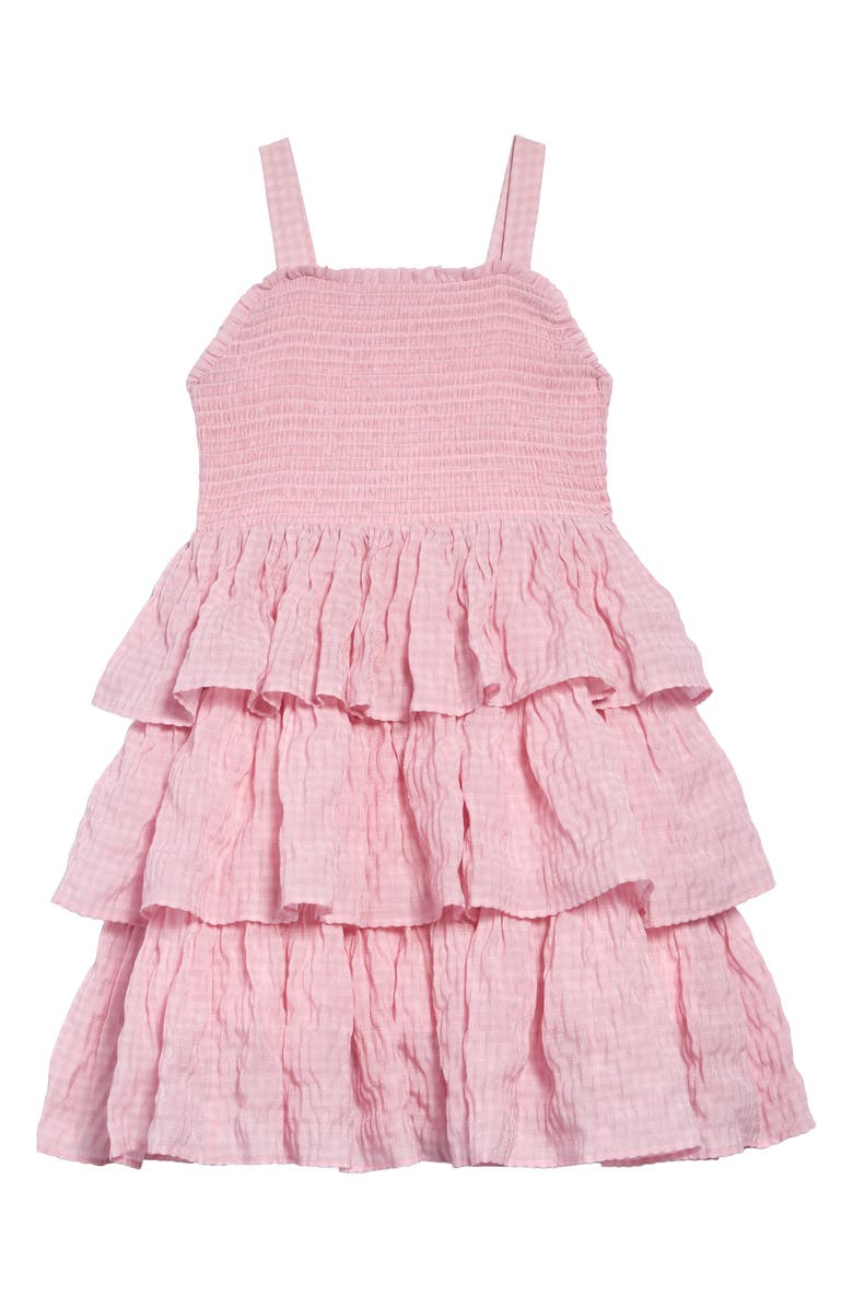 RACHEL PARCELL Tiered Smocked Dress, Main, color, 680