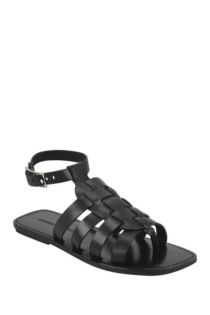 Image of Sigerson Morrison Narro Leather Woven Sandal