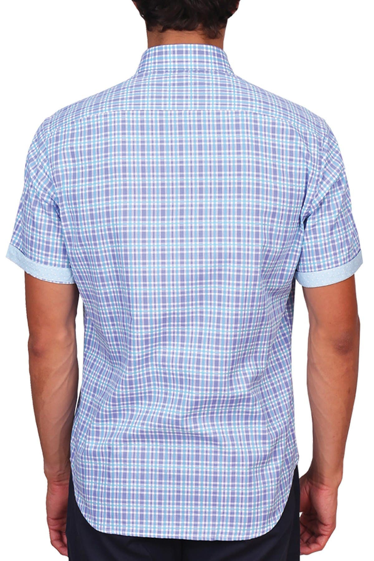 Image of TailorByrd Plaid Print Classic Fit Shirt