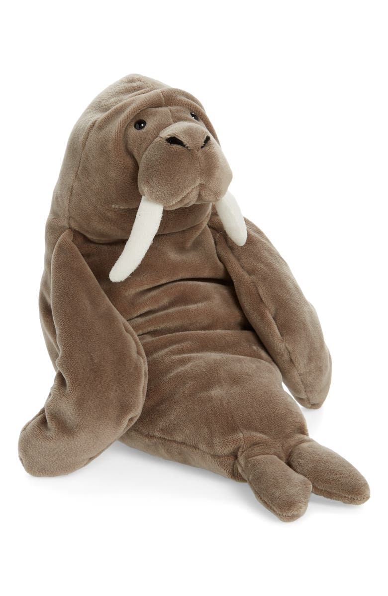 JELLYCAT Wrinkles Walrus Stuffed Animal, Main, color, GREY