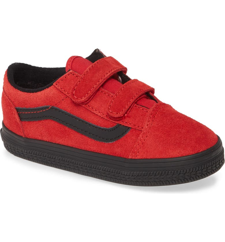 VANS Old Skool Sneaker, Main, color, RED/ BLACK