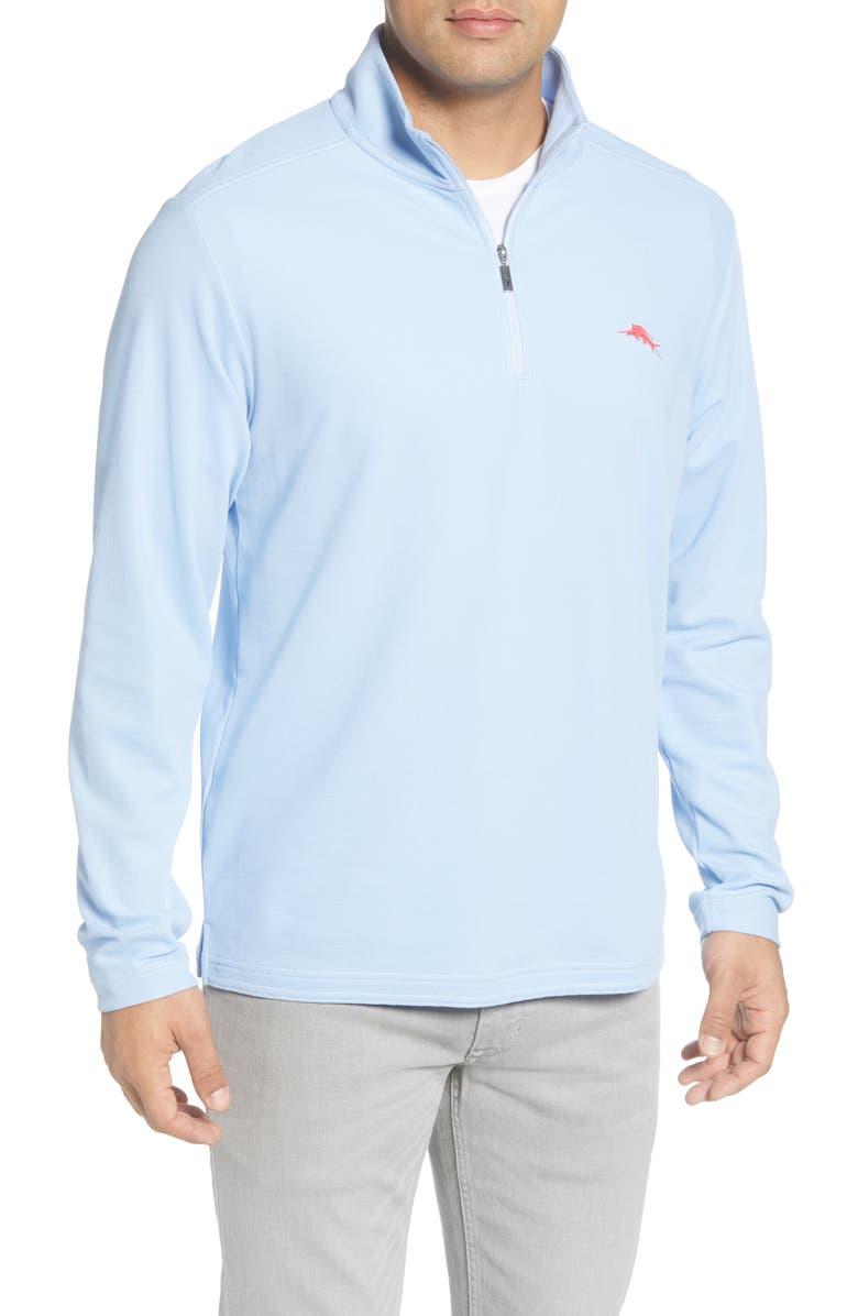 TOMMY BAHAMA Emfielder 2.0 IslandZone<sup>®</sup> Quarter Zip Performance Pullover, Main, color, 400