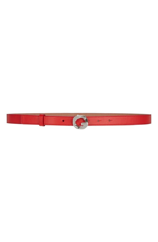 Givenchy Belts 'G' CHAIN BUCKLE LEATHER BELT