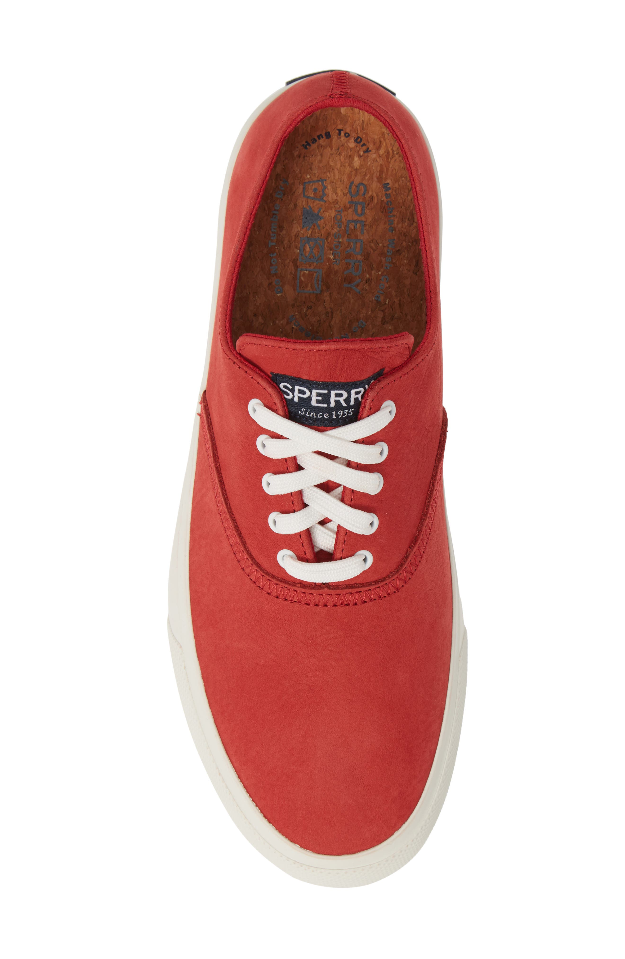 ,                             Captains CVO Washable Sneaker,                             Alternate thumbnail 5, color,                             RED LEATHER