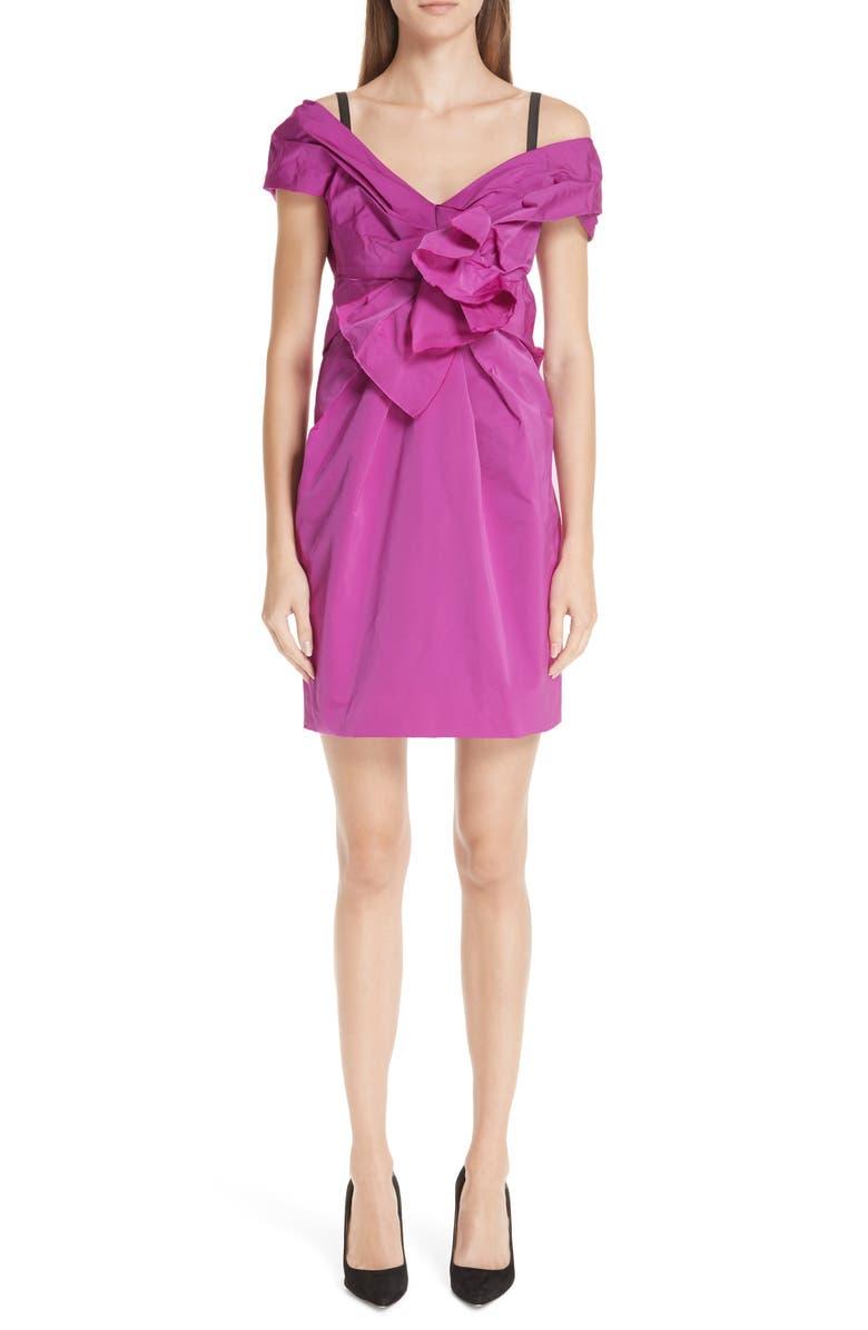 MARC JACOBS Taffeta Off the Shoulder Dress, Main, color, 674