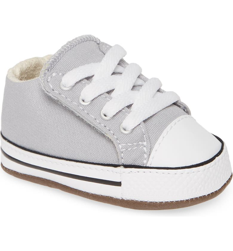 CONVERSE Chuck Taylor<sup>®</sup> All Star<sup>®</sup> Cribster Low Top Crib Shoe, Main, color, WOLF GREY/ IVORY/ WHITE