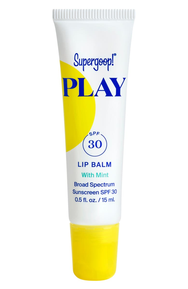 SUPERGOOP!<SUP>®</SUP> Supergoop! Play Mint Lip Balm SPF 30 Sunscreen, Main, color, 000