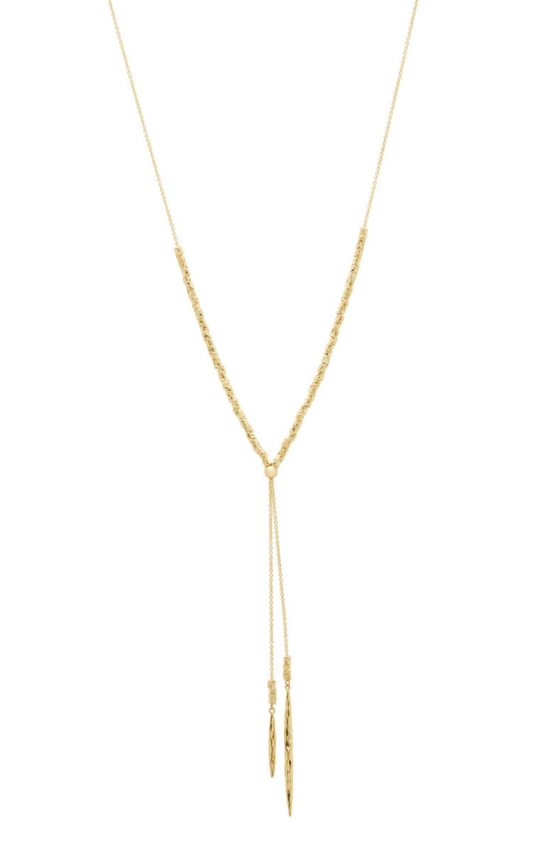 GORJANA Laguna Adjustable Lariat Necklace, Main, color, GOLD
