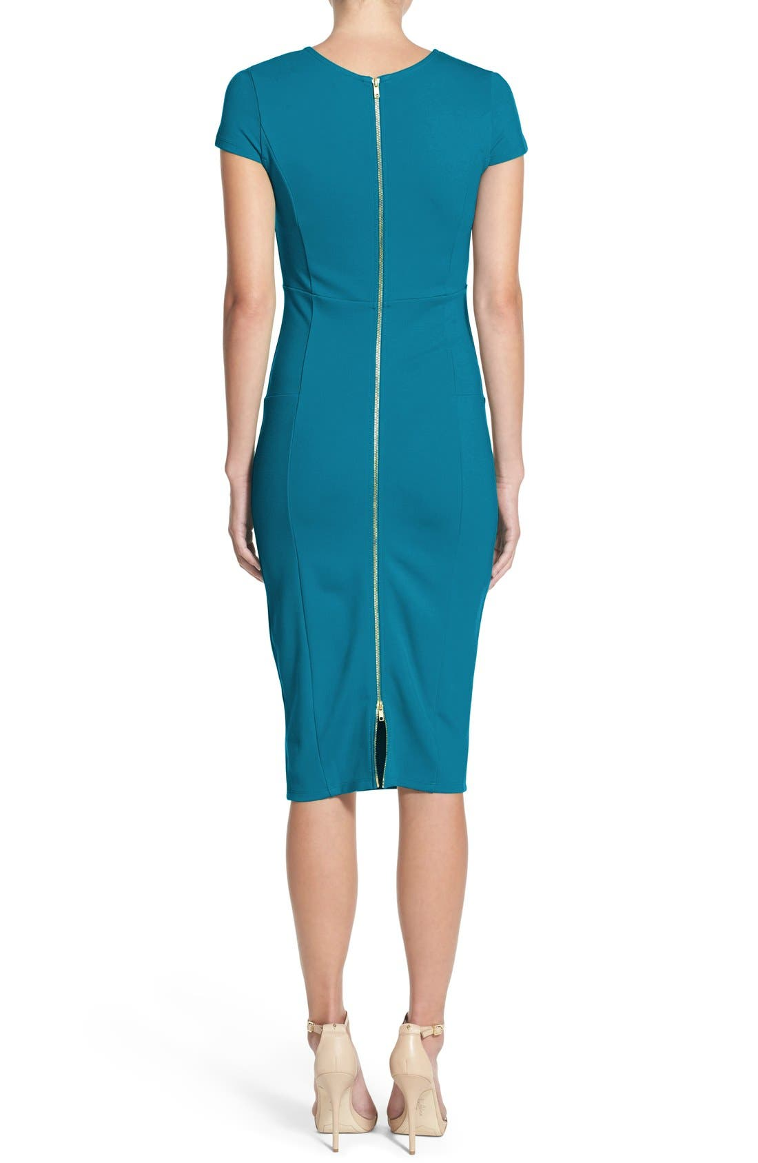,                             Ward Seamed Pencil Dress,                             Alternate thumbnail 21, color,                             409