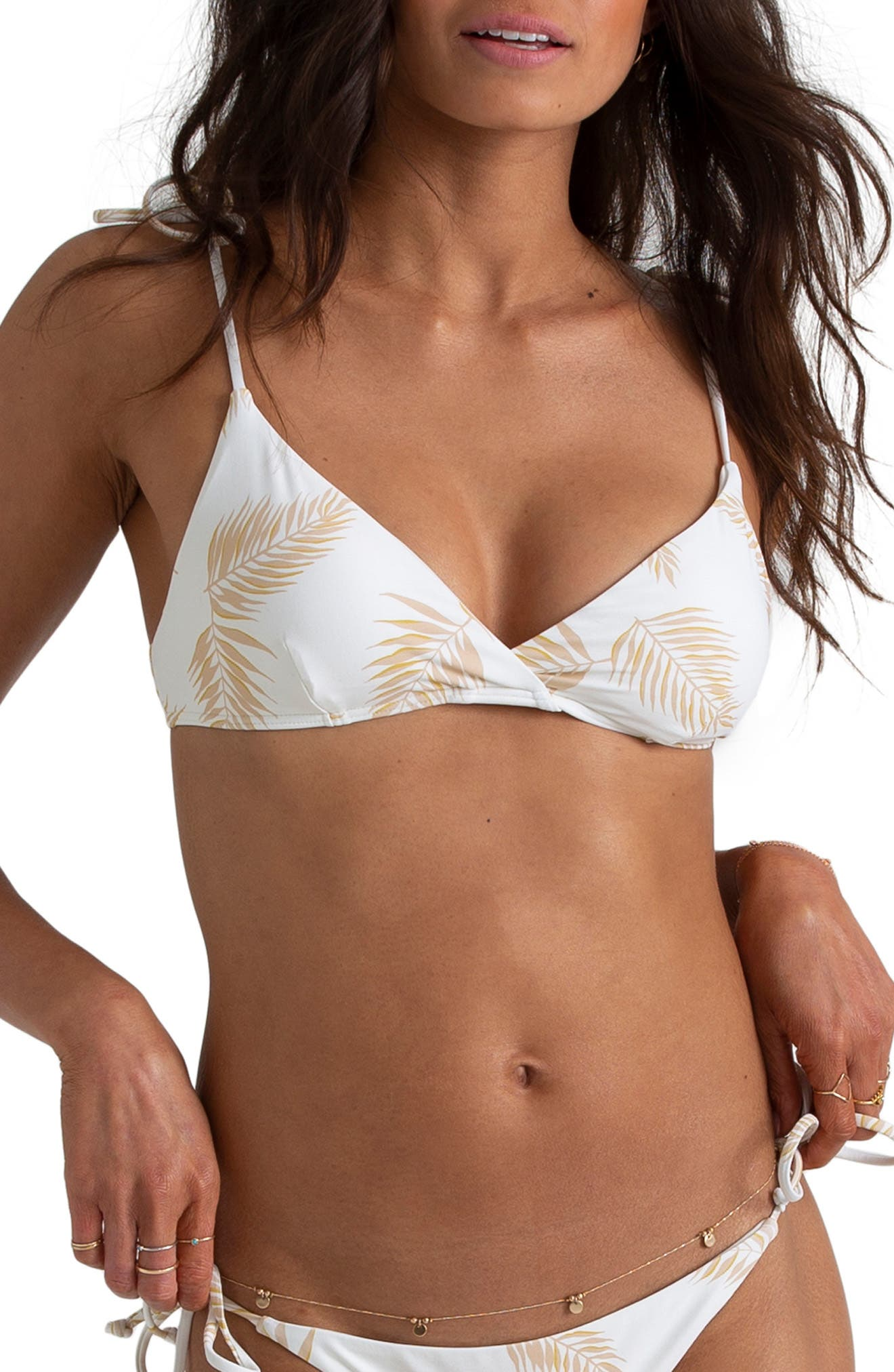 Billabong X Sincerely Jules Dos Palmas Bikini Top, White