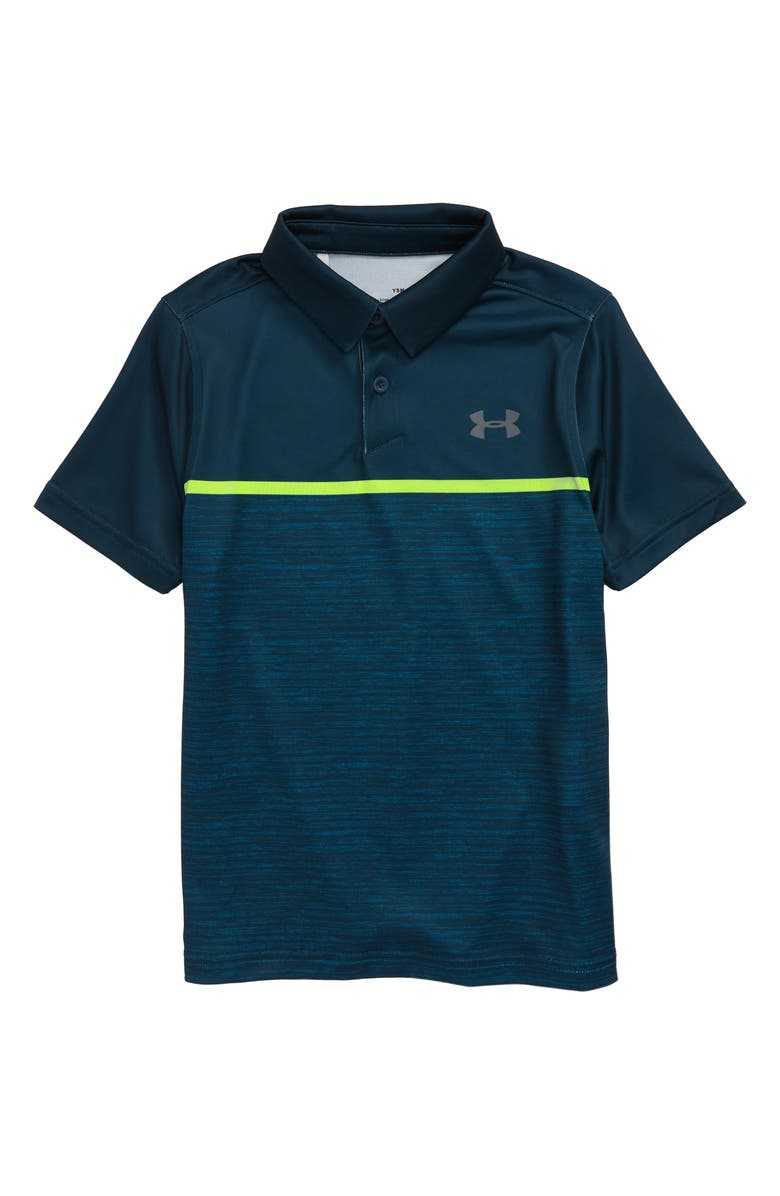 UNDER ARMOUR HeatGear<sup>®</sup> Open Champ Polo, Main, color, TANDEM TEAL/ PITCH GRAY